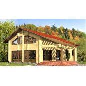 Дерев`яний двоповерховий будинок з профільованого бруса 10х11 м