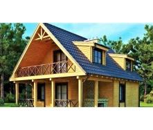 Деревянный дом из профилированного бруса 8х11 м