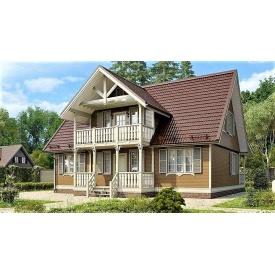 Дом из профилированного бруса, деревянный 10х12 м