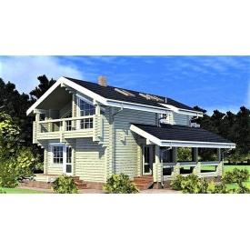 Двухэтажный деревянный дом из профилированного бруса 8х13 м