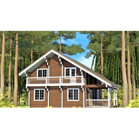 Двухэтажный дом из профилированного бруса 12х10 м