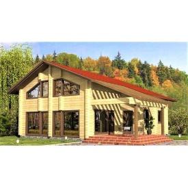 Деревянный двухэтажный дом из профилированного бруса 10х11 м