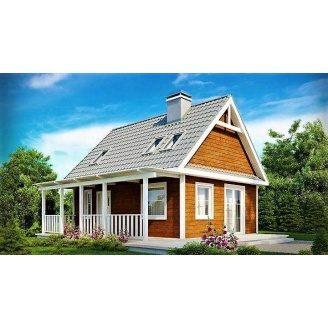 Дом из профилированного бруса 7х9 м