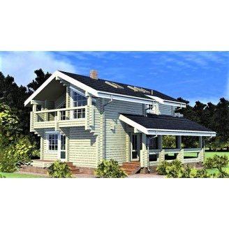 Двоповерховий дерев`яний будинок з профільованого бруса 8х13 м