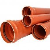 Труба наружная Valrom 110x2,7 мм 3 м sn4 канализационная