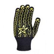 Рукавички трикотажні Doloni 562 чорні з жовтою зіркою