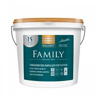 Краска интерьерная Kolorit Family базис А 9 л