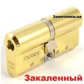 Цилиндр Abloy Protec 2 Hard 77 мм 31х46 мм к/к латунь СY 332