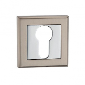 Накладка дверная под цилиндр MVM E8 SN/CP матовый никель/полированный хром