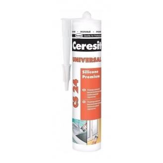 Эластичный силиконовый герметик Ceresit Universal CS 24 TR 280 мл прозрачный (655514)