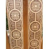 Декоративне тиснення візерунка Візантія на вагонку з липи
