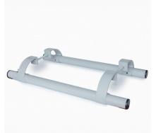 Ручка офісна пряма 500 мм сіра 9006 для металопластикових та алюмінієвих дверей