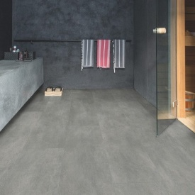 Винил Quick-Step Ambient Click Plus AMCP40051 Dark grey concrete