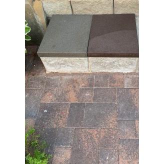 Тротуарна плитка широкоформатна сіра 500x400x55 мм