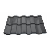 Модульная металлочерепица Тайл Статус High Build Polyester 1205/1160 мм 0,5 мм RAL 9005