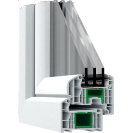 Металопластикове вікно з профілю Steko S 700 1300x1400 мм біле