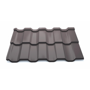 Модульна металочерепиця Тайл Статус High Build Polyester 1205/1160 мм 0,5 мм RAL 8019
