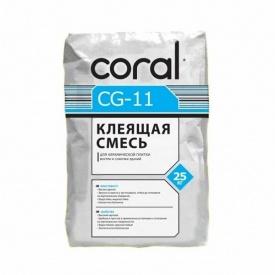 Клей для плитки Coral CG-11 25 кг