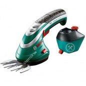 Акумуляторні ножиці для трави + насадка-розпилювач Bosch ISIO (STB155)