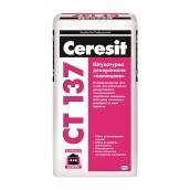 Декоративная штукатурка Ceresit CT 137 полимерцементная камешковая 2,5 мм 25 кг белый