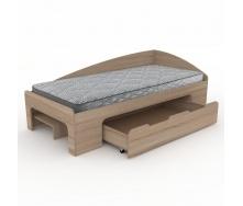 Кровать Компанит 90+1 лдсп 90х2000 мм дуб-сонома