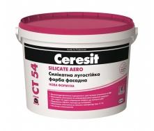 Фарба силікатна фасадна Ceresit CT 54 SILICATE AERO База А 3 л