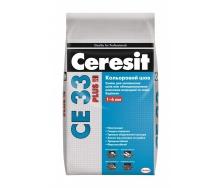Затирка для швів Ceresit CE 33 plus 2 кг 115 сірий цемент