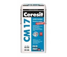 Клеящая смесь Ceresit CM 17 Super Flexible 25 кг для плитки любого размера и основания