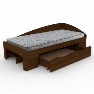 Кровать Компанит 90+1 лдсп 90х2000 мм орех-эко