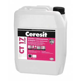 Глибокопроникна грунтовка Ceresit СТ 17 Супер 5 л