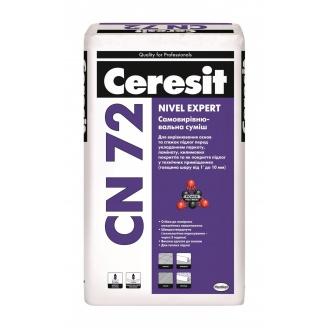 Самовыравнивающаяся смесь Ceresit CN 72 nivel expert 25 кг