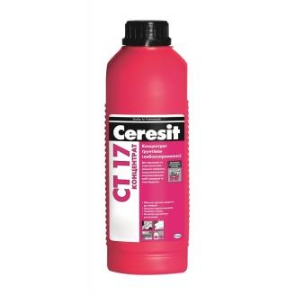 Концентрат глубокопроникающей грунтовки Ceresit СТ 17 Концентрат 1 л бело-молочный