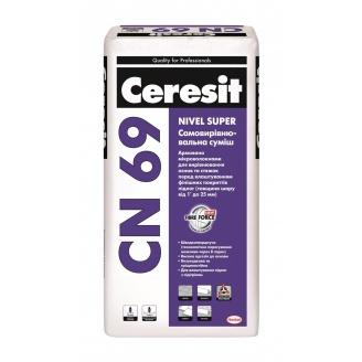 Самовыравнивающаяся смесь Ceresit CN 69 nivel super 25 кг