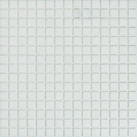 Мозаика стеклянная Stella di Mare B11 белая на сетке 327х327 мм