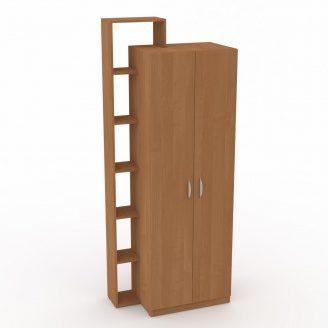 Шкаф-9 Компанит дсп ольха двухдверный с полочками