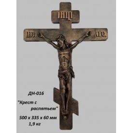 Декоративная накладка Крест с распятием 500х335х60 мм