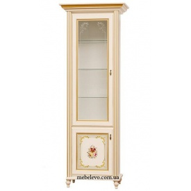 витрина 1Д Парма прованс белый Мир Мебели