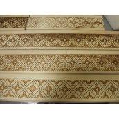 Декоративное горячее тиснение узора Украинский орнамент на вагонку из сосны