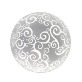 Светильник стекло-металл Е 27 60 W 250x90 мм IP 20 белый круглый