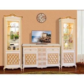 гостиная комплект №1 Ливорно прованс белый Мир Мебели