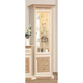 витрина 1Д Лацио прованс белый Мир Мебели