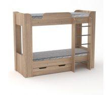 Двох'ярусне ліжко Компанит Твікс-2 77х152х210 дуб санома