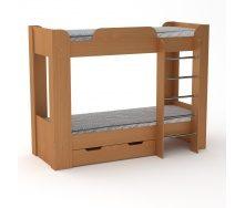 Двох'ярусне ліжко Компанит Твікс-2 77х152х210 бук