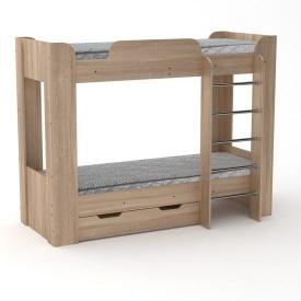 Двухъярусная кровать Компанит Твикс-2 77х152х210 дуб санома