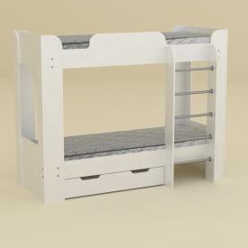 Двухъярусная кровать Компанит Твикс-2 77х152х210 нимфея белый