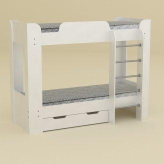 Двох'ярусне ліжко Компанит Твікс-2 77х152х210 німфея білий