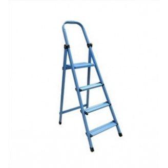 Стремянка метал WORK`S 4сх  404 синяя 301 см 5 кг