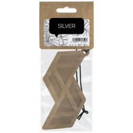 Кожаный ароматизатор для автомобиля ACappella Серебро, бергамот перец сандал фиалка (5060574613193)