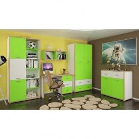 Детская стенка Лео Мебель-Сервис 340х59х208 зелёная