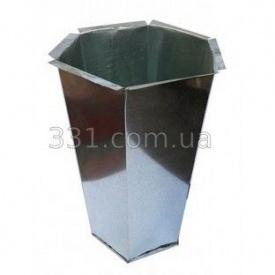 Відро оцинковане Імпекс Груп шестигранне для бетонного смітника (IMPA174)